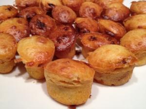 mini gâteaux salés au chorizo