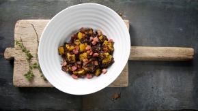 Quinola Mothergrain - Risotto de quinoa rouge avec courge butternut et pancetta 1