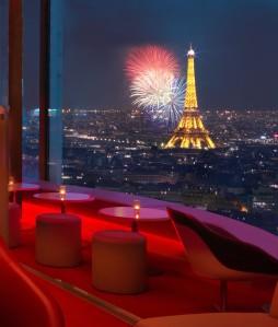 La Tour Eiffel depuis le Bar La Vue. DR.