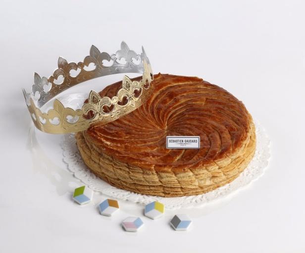 La galette de rois de Sebastien Gaudard, 33 euros la galette pour 6 personnes