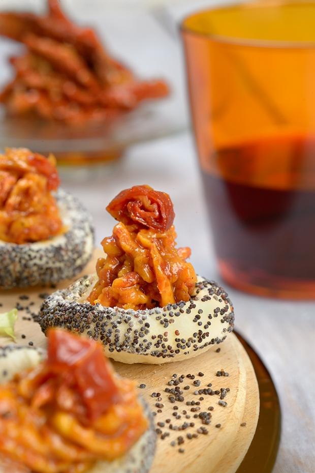 Nuages de pâte brisée & mousse de tomates séchées-1