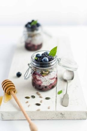Pudding-aux-Myrtilles,-Chia-et-Quinoa